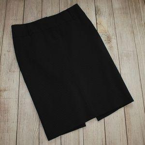 EXPRESS Size 0 Pencil Skirt Black w/ Stripes